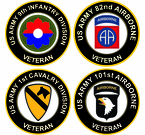 U.S. Army Round Veteran Decals