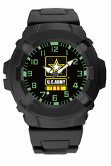 U.S. Army Vietnam Veteran Rubber Strap Watch