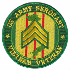 "U.S. Army Sergeant Vietnam Veteran 4"" Patch"