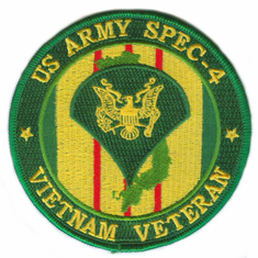 "U.S. Army Spec 4 Vietnam Veteran 4"" Patch"