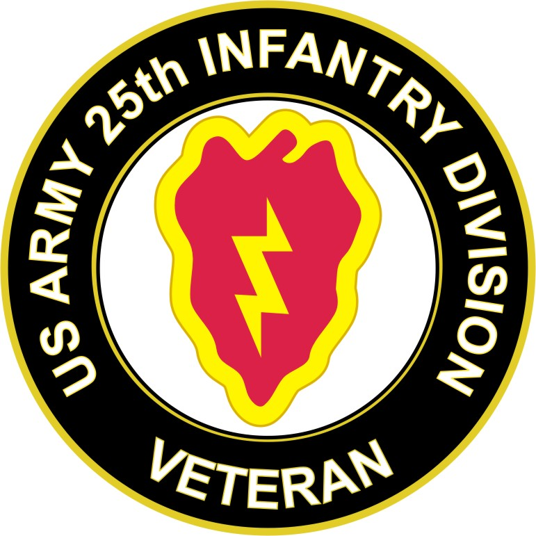 U S Army Veteran 25th Infantry Division Sticker Decal