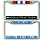 US Army Veteran License Plate Frames<font color = red><br> MADE IN USA!</font color>