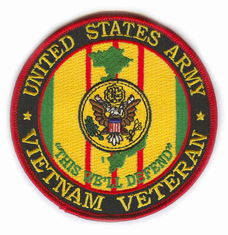 "US Army Vietnam Veteran 4"" Patch"