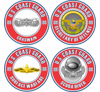 U.S. Coast Guard Round Badge Decals