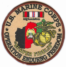 "US Marine Corps 4"" Operation Enduring Freedom Patch"