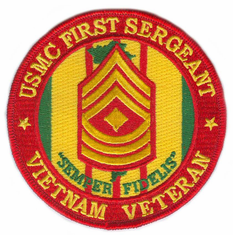 "U.S. Marine Corps First Sergeant Vietnam Veteran 4"" Patch"