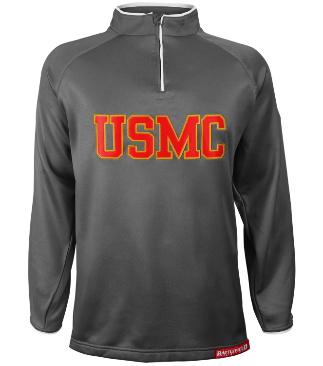 Us marine corps gray embroidered performance jacket
