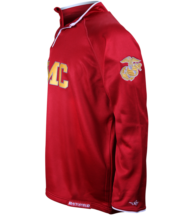 U s marine corps red embroidered performance jacket