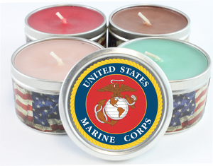 US Marine Corps Emblem Scented Candles
