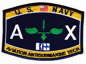 U.S. Navy Aviation Antisubmarine Tech AX Patch