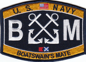 U.S. Navy Boatswains Mate BM Patch