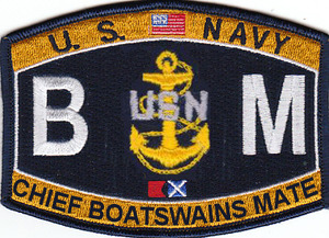 U.S. Navy Chief Boatswains Mate BMC Patch