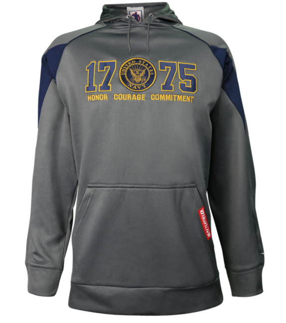 U s navy logo embroidered performance jacket