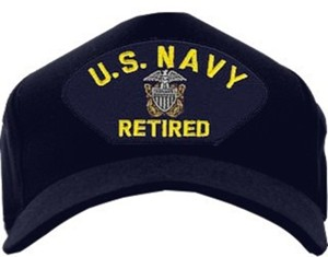 U S Navy Retired With Officer Crest Ball Cap