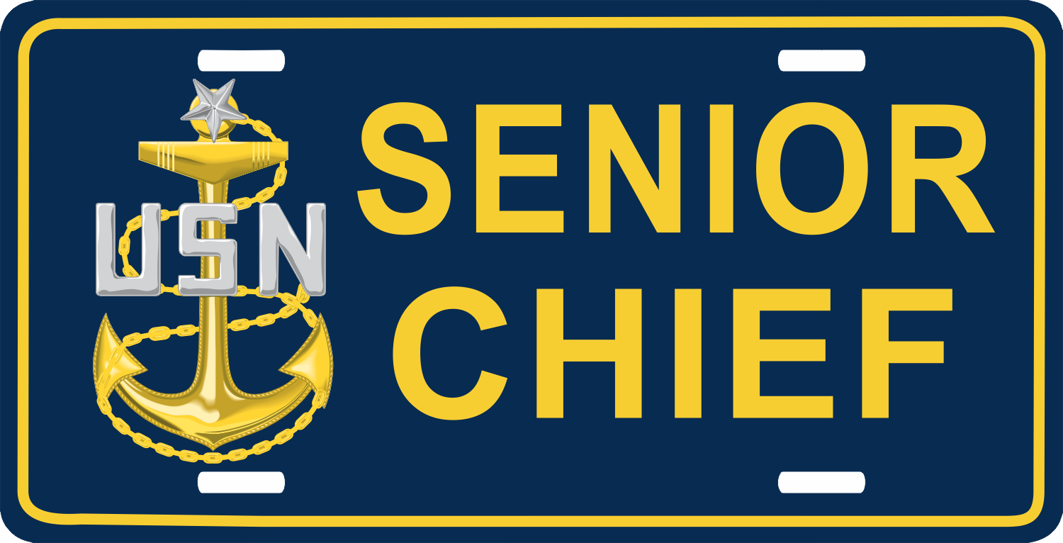 us navy senior chief petty officer scpo license plate 14