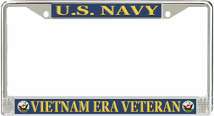 U.S. Navy Vietnam Era Veteran License Plate Frame