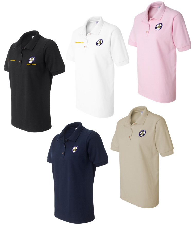 u s navy waves custom embroidered polo shirts