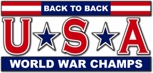 USA - Back to Back World War Champs Decal
