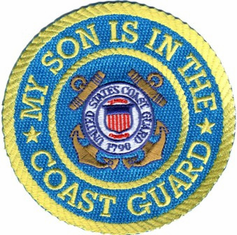 """USCG My Son is in the Coast Guard 4"""" Military Patch"""