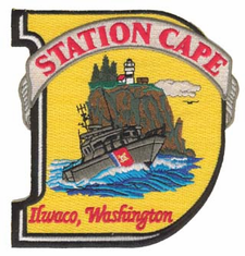"USCG Station Cape Ilwaco, WA 5"" Military Patch"