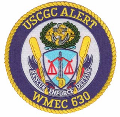 "USCGC Alert WMEC 4.5"" Military Patch"