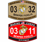 U.S.M.C Military Occupation Specialty (MOS) Decals