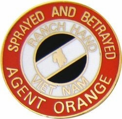 Vietnam Agent Orange Lapel Hat Pin