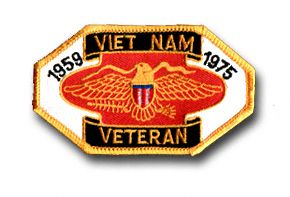 "VIETNAM VETERAN 1959 - 1975 3½"" PATCH"
