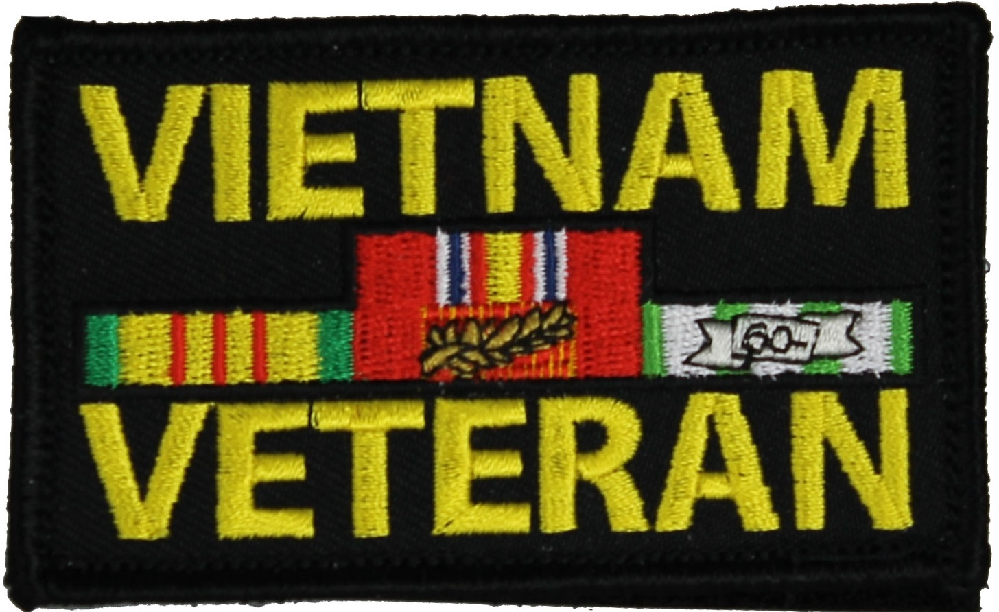Black & Yellow Vintage Military Vietnam Veteran Patch 6 ... |Vietnam Veteran Patches And Badges