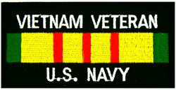 Vietnam Veteran Navy Patch