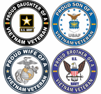 Vietnam Veteran Proud Family Decal Stickers
