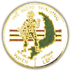 Vietnam We Were Winning Lapel Hat Pin