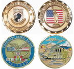 War and Veteran Challenge Coins