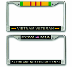 War Combat Conflict License Plate Frames