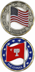 West Point Citadel Dad Flag Challenge Coin