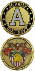 West Point Go Army Beat Navy Challenge Coin
