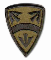 "15th National Support SUBDUED  2½"" MILITARY PATCH"