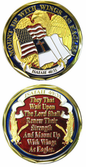 Wings As Eagles Isaiah 40 31 Challenge Coin