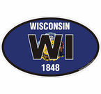 Wisconsin State Decals Stickers
