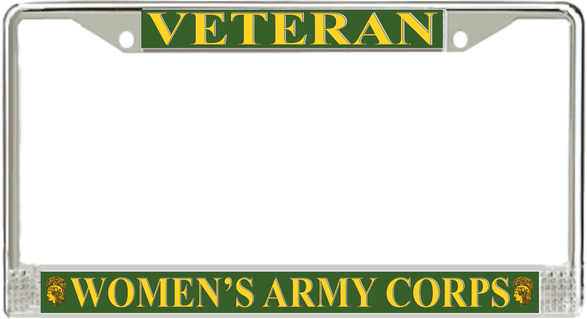 Women\'s Army Corps Veteran License Plate Frame