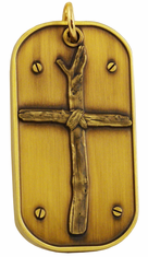 Wooden Cross Dog Tag