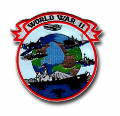 "WORLD WAR II 4½"" PATCH"