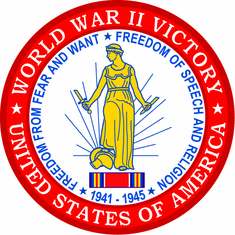 "World War II Victory Medal 4"" Patch"
