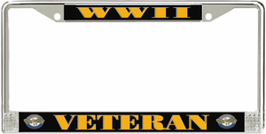 World War Two Veteran License Plate Frame