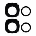 Metra-82-7401 INFINITI G37 08-13 SPK PLATE - 6 to 6.75in - pair