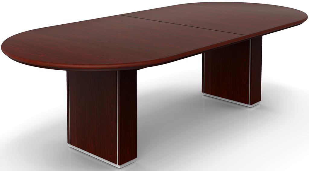Custom oval conference tables w cable channel bases 96 for 10 person conference table dimensions