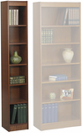 "12"" & 24"" Wide Wood Veneer Bookcases"