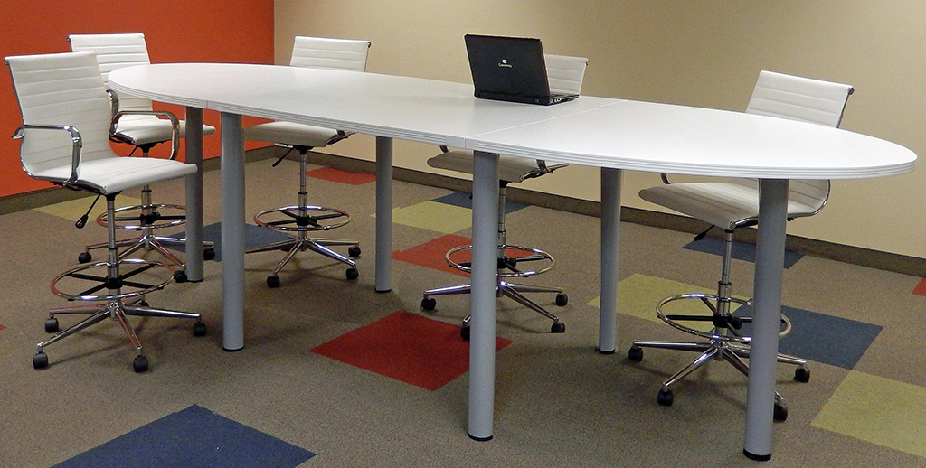 Oval Standing Height Conference Tables In Colors Length See - Standing height conference table