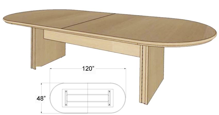 Custom oval racetrack conference tables 96 x 42 table for 120 conference table
