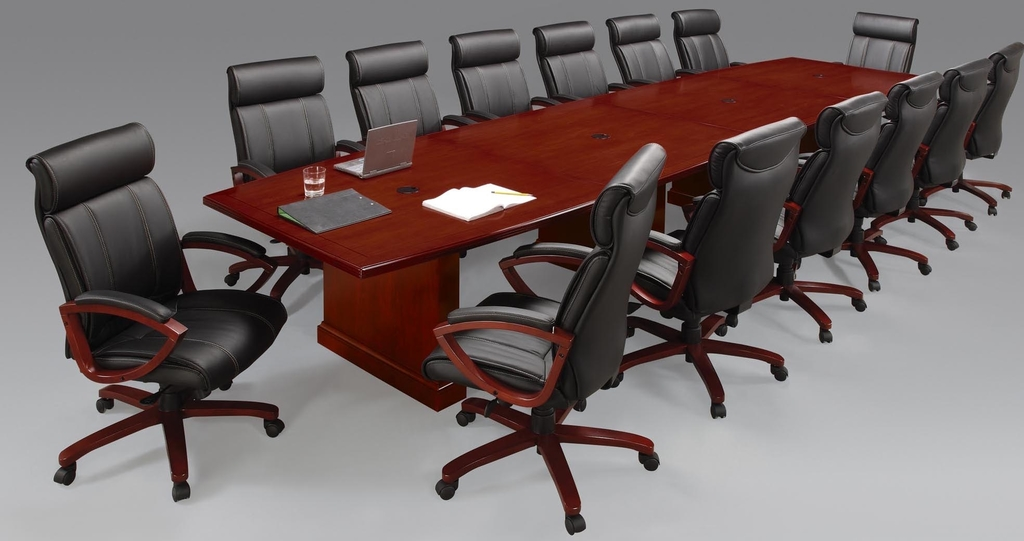 Expandable brown cherry veneer conference tables 8 for 12 person conference table dimensions